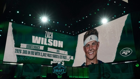 New York Jets quarterback Zach Wilson