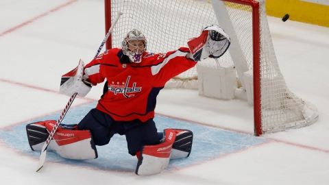Washington Capitals goaltender Craig Anderson