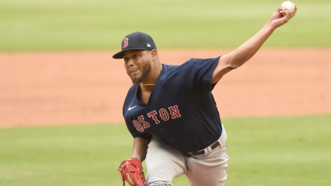 Boston Red Sox relief pitcher Darwinzon Hernandez