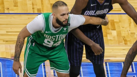 Boston Celtics guard Evan Fournier