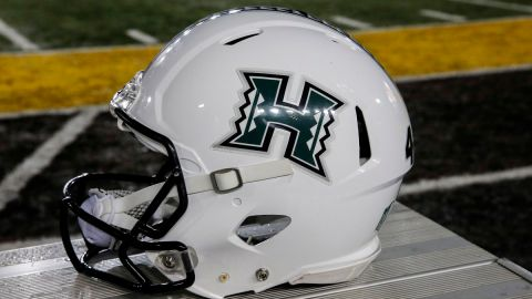 Hawaii football helmet