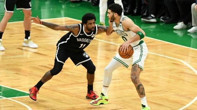 Boston Celtics forward Jayson Tatum, Brooklyn Nets guard Kyrie Irving