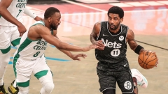 Brooklyn Nets guard Kyrie Irving, Boston Celtics guard Kemba Walker