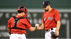 Boston Red Sox pitcher pitcher Nathan Eovaldi