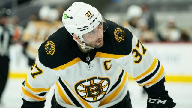Boston Bruins center Patrice Bergeron