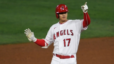 Los Angeles Angels designated hitter Shohei Ohtani