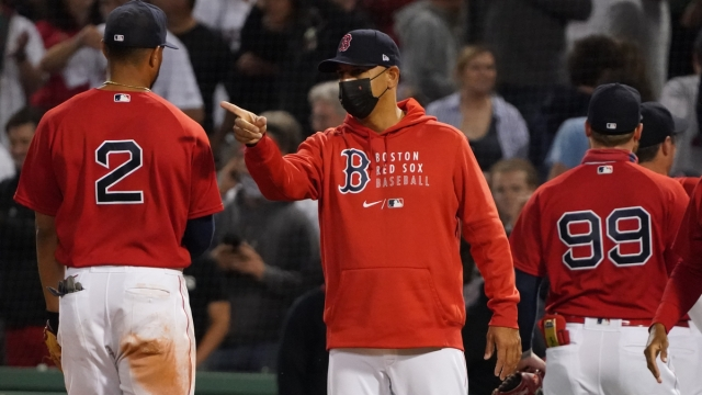 Boston Red Sox Manager Alex Cora And Shortstop Xander Bogaerts