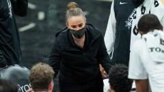 San Antonio SPurs coach Becky Hammon