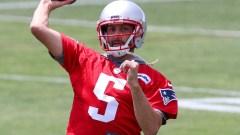 New England Patriots quarterback Brian Hoyer