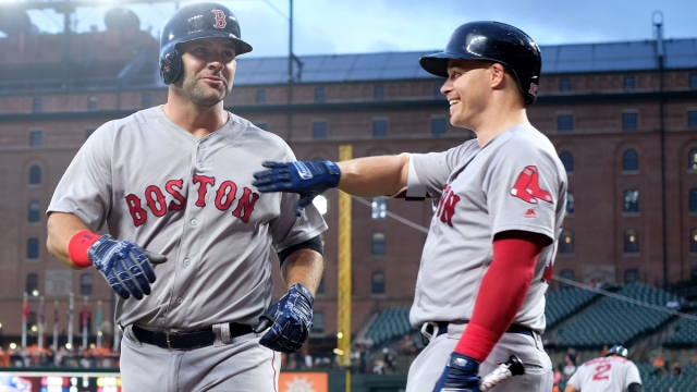 Former Boston Red Sox infielders Brock Holt and Mitch Moreland