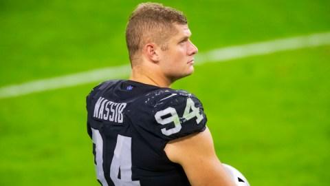 Las Vegas Raiders defensive end Carl Nassib