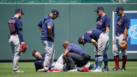 Boston Red Sox first baseman Christian Arroyo