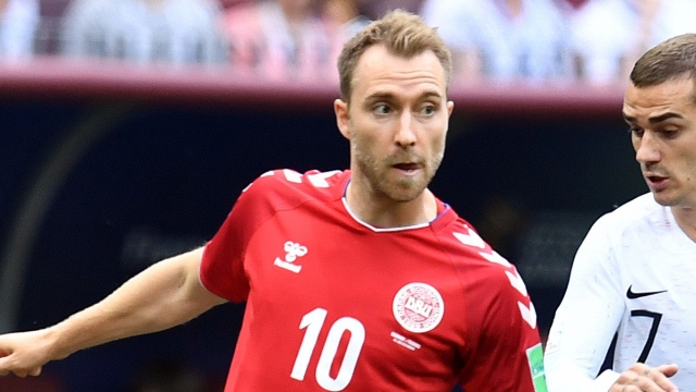 Denmark midfielder Christian Eriksen