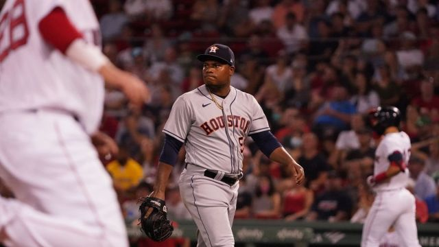 Houston Astros pitcher Famber Valdez