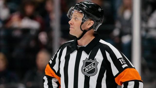 NHL referee Gord Dwyer