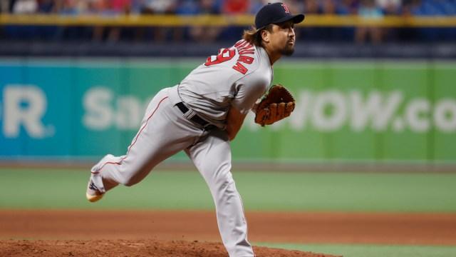 Boston Red Sox relief pitcher Hirokazu Sawamura