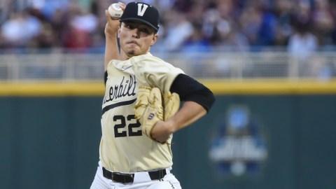 Vanderbilt pitcher Jack Leiter