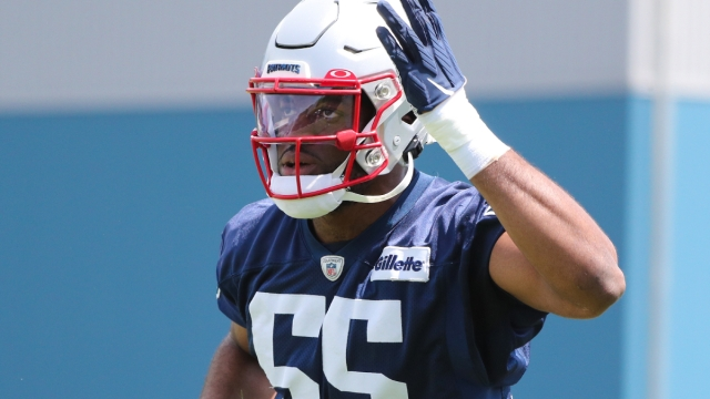 New England Patriots linebacker Josh Uche