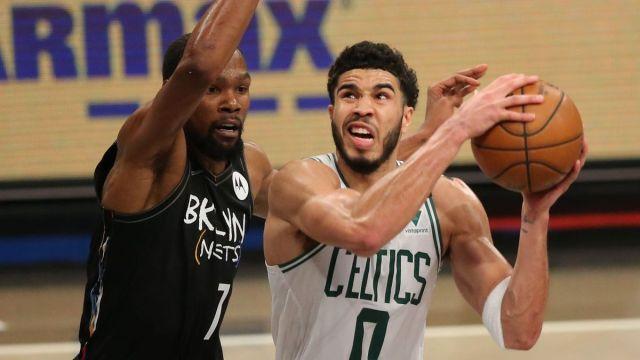 Brooklyn Nets forward Kevin Durant, Boston Celtics forward Jayson Tatum