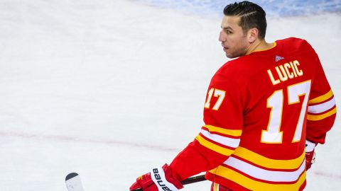 Calgary Flames left wing Milan Lucic