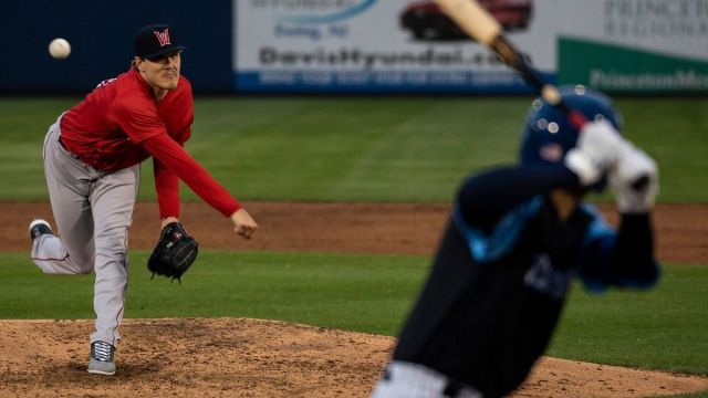 Worcester Red Sox pitcher Tanner Houck