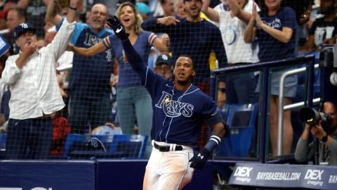 Tampa Bay Rays third baseman Wander Franco