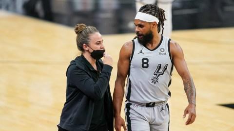 San Antonio Spurs assistant coach Becky Hammon