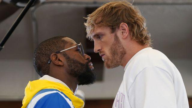 Boxers Floyd Mayweather and Logan Paul