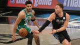 Boston Celtics forward Jayson Tatum and Brooklyn Nets forward Blake Griffin
