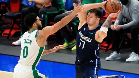 Dallas Mavericks guard Luka Doncic, Boston Celtics forward Jayson Tatum
