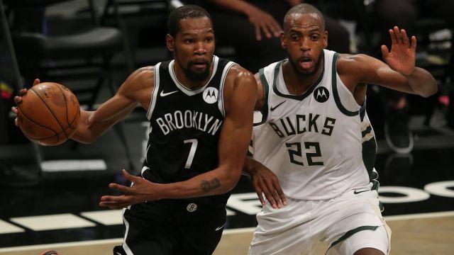 Brooklyn Nets forward Kevin Durant and Milwaukee Bucks guard Khris Middleton
