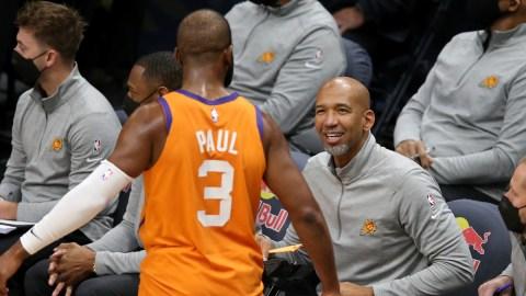 Phoenix Suns head coach Monty Williams, guard Chris Paul