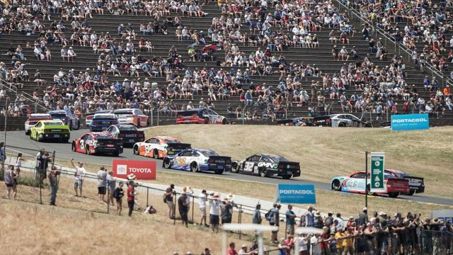 NASCAR driers at Sonoma Raceway