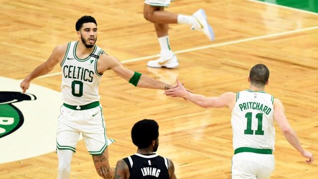 Boston Celtics guard Payton Pritchard, Jayson Tatum