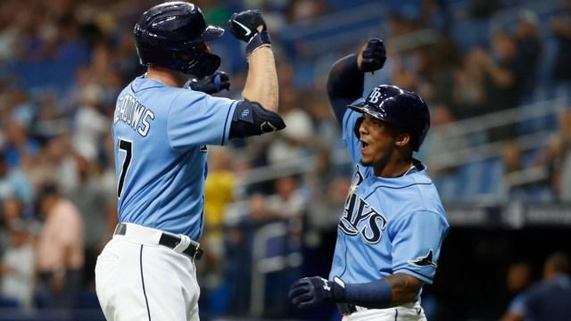 Tampa Bay Rays designated hitter Austin Meadows, infielder Wander Franco