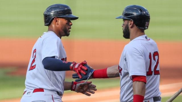 Boston Red Sox shortstop Xander Bogaerts, Marwin Gonzalez