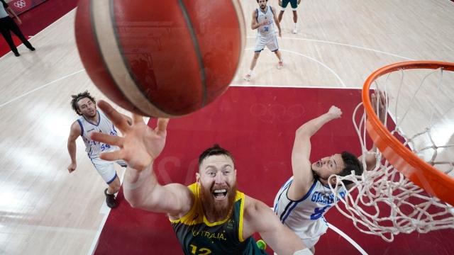 Australia and Toronto Raptors center Aron Baynes