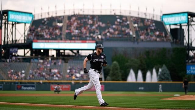 Colorado Rockies first baseman C.J. Cron (25)