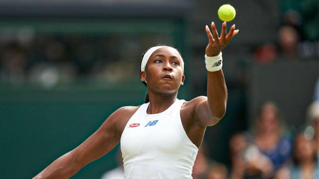 Professional tennis player Coco Gauff