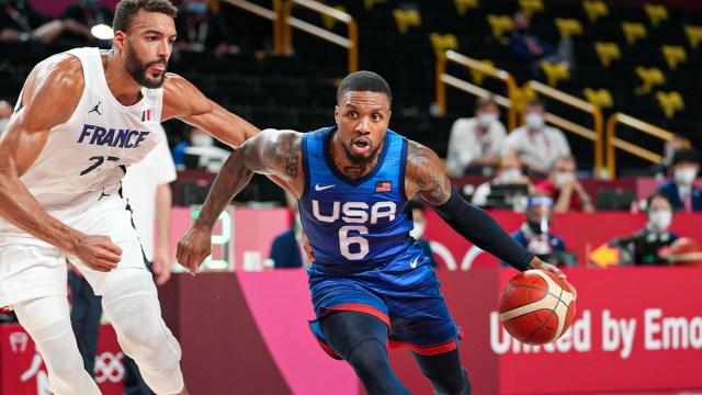 USA men's basketball point guard Damian Lillard
