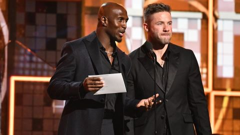 New England Patriots safety Devin McCourty and former Patriots wide receiver Julian Edelman