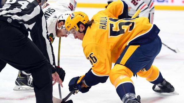 Boston Bruins forward Erik Haula