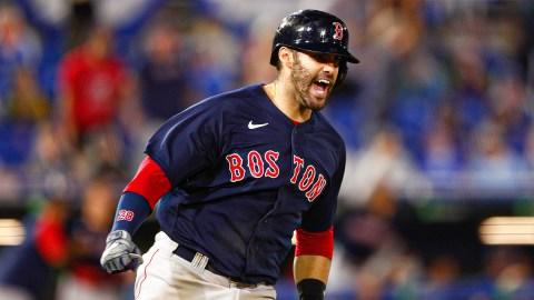 Boston Red Sox designated hitter J.D Martinez