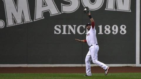 Boston Red Sox left fielder J.D. Martinez
