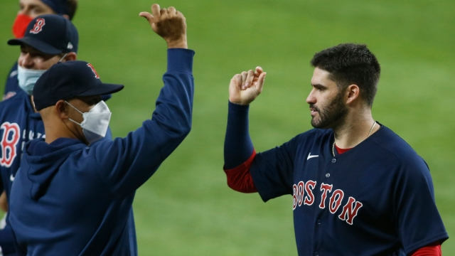 Boston Red Sox manager Alex Cora, J.D. Martinez