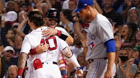 Boston Red Sox's Jarren Duran, Xander Bogaerts