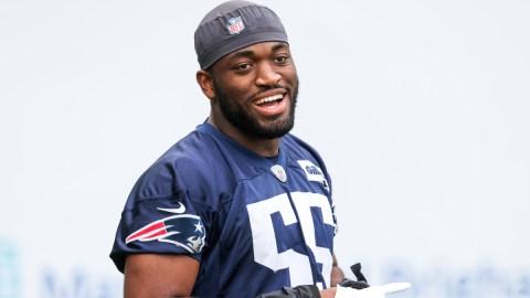 New England Patriots line backer Josh Uche