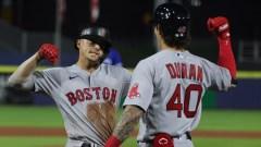 Boston Red Sox Second Baseman Kiké Hernández And Outfielder Jarren Duran