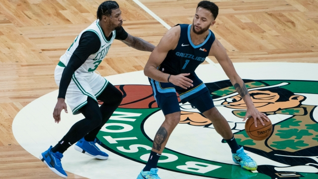 Boston Celtics guard Marcus Smart, Memphis Grizzlies forward Kyle Anderson