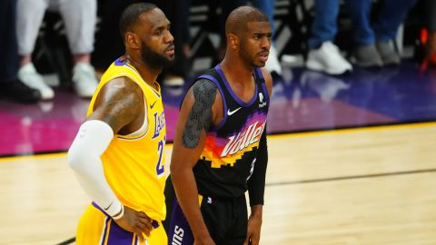 Los Angeles Lakers forward LeBron James and Phoenix Suns guard Chris Paul